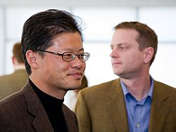 Yahoo! co-founders Jerry Yang (left) and David Filo (right)