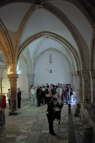 Christianity in the 1st century - Image: Jerusalem Cenacle BW 5