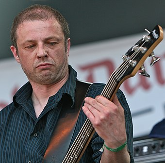 Diarmuid Dalton, an occasional member of Godflesh, performing with Broadrick's Jesu in 2009 Jesu Primavera Sound 2009 1.jpg