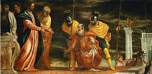Homosexuality in the New Testament - Healing the Centurion's servant by Paolo Veronese, 16th century.