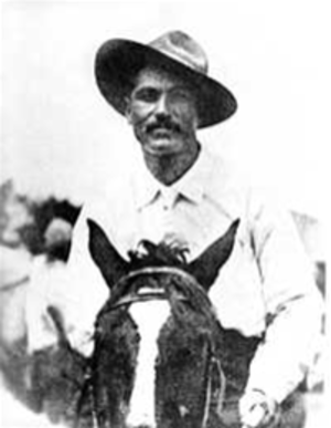 Jesús García - Jesús García Corona riding a horse days before his death