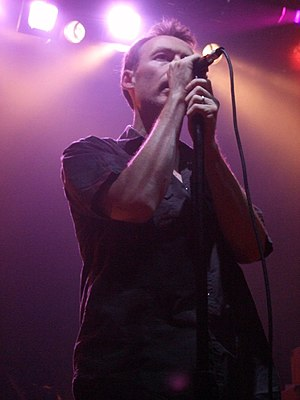 Jim Reid - On stage with Jesus and Mary Chain, 22 May 2007