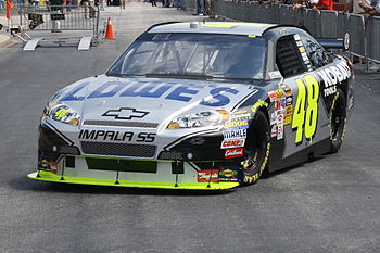 Jimmie Johnson Practice.JPG