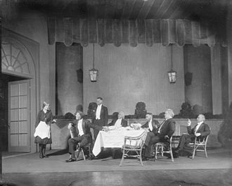 The Doctor's Dilemma (play) - Photograph of scene designed by Jo Mielziner for George Bernard Shaw's Doctor's Dilemma, 1927