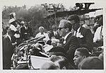 Joachim Prinz speaking at March on Washington, with Bayard Rustin pictured, 1963 (6891546869).jpg