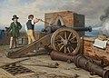 Johann Peter Krafft - Künstlerfreunde lösen einen Kanonenschuss auf der Festung Michele bei Ostia (Ferdinand Jagemann und Peter Krafft) - 6638 - Österreichische Galerie Belvedere.jpg