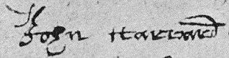 John Harvard (clergyman) - Image: John Harvard Signature