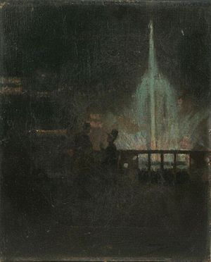 International Exhibition of Science, Art and Industry - The 'Fairy Fountain' at the exhibition, by John Lavery.