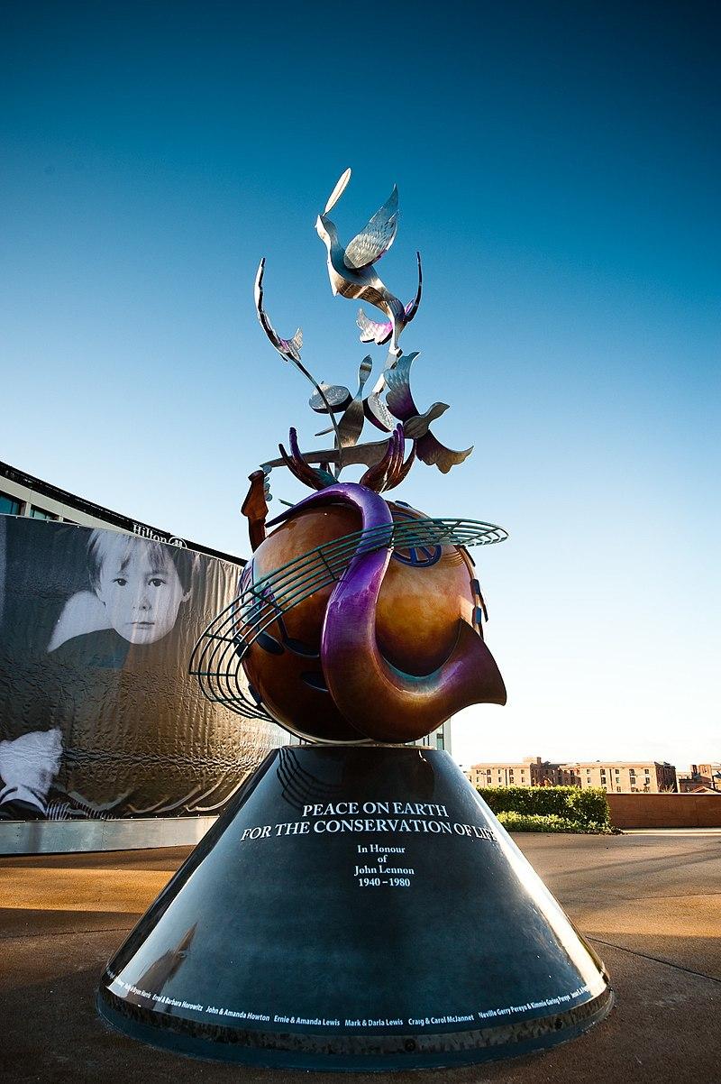 John Lennon Peace Monument - PEACE ON EARTH - October 9th 2010.jpg