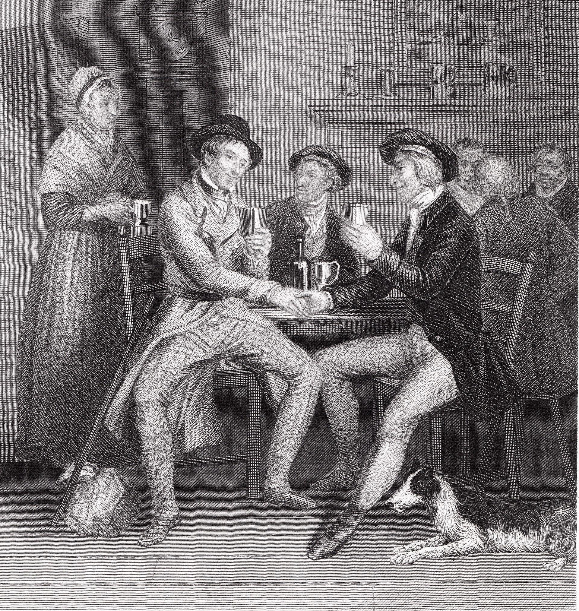Ilustrace k písni z roku 1841