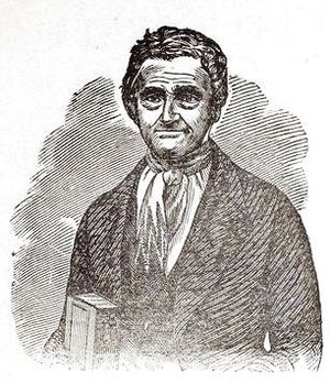 John Udell - Udell's portrait from his 1856 diary, Incidents of Travel to California Across the Great Plains