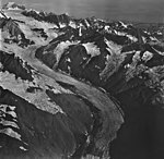Johns Hopkins Glacier, tidewater glacier and hanging glaciers, August 26, 1979 (GLACIERS 5529).jpg