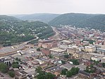 View of Johnstown from inclined plane