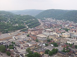 Uitzicht over Johnstown
