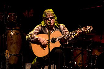 Puerto Rican singer Jose Feliciano, the most awarded performer with four wins. Jose Feliciano.jpg
