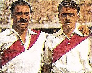 Alfredo Di Stéfano - Di Stéfano (right) during his first years in River Plate