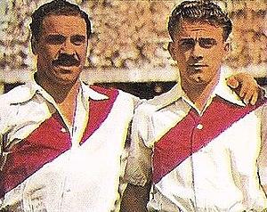 Alfredo Di Stéfano - Di Stéfano (right) during his first years in River Plate