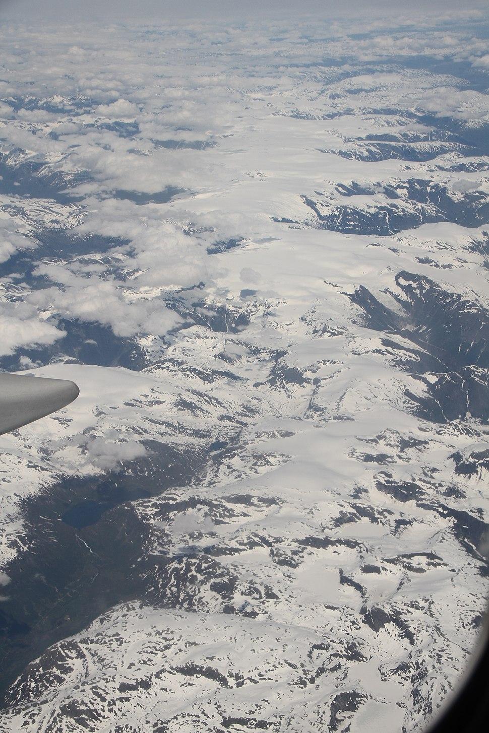 Jostedalsbreen Jölster Sogndal over Fjärlandstunnelen IMG 0111