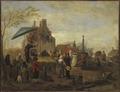 Juggers at a Market (Philips Wouwerman) - Nationalmuseum - 17718.tif