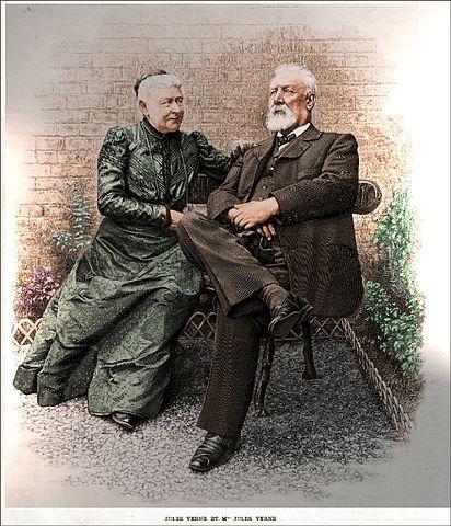 Жюль Верн с супругой Онориной, ок. 1900 год