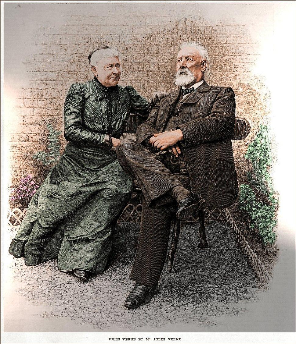 Jules Verne and Mrs. Verne ca.1900
