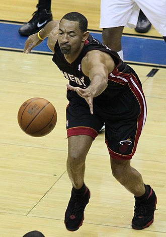Juwan Howard - Howard diving for a loose ball in 2010