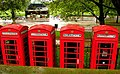 K6 telephone boxes on Park Lane LONDON 22 September 2006.jpg