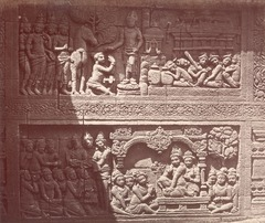 KITLV 90025 - Isidore van Kinsbergen - Reliefs on the Borobudur bij Magelang - Around 1900.tif