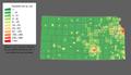Kansas population map.png