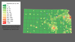 Kansas Population Density Map