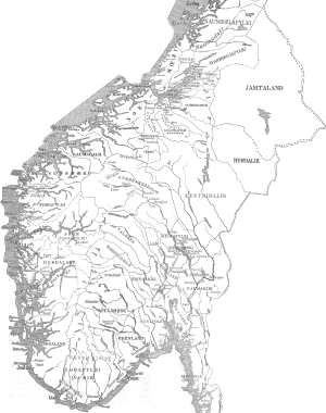 Districts of Norway - Southern Norway's districts during the middle ages.