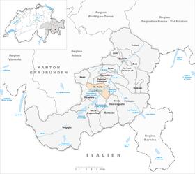 Karte von St. Moritz
