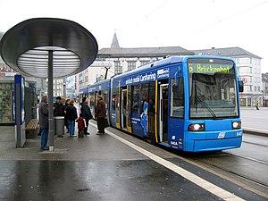 Trams in Kassel - Image: Kassel Koenigsplatz Strassenbahn 2477