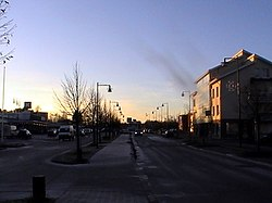 Kauppatie, the main street of Nakkila's centre in December 2014.
