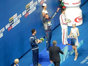 Thiago Pereira - Thiago Pereira won the silver medal in the 200-meter individual medley at Kazan 2015