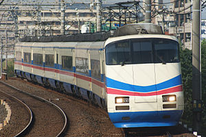 Skyliner - AE100 series train on a Skyliner service, October 2008
