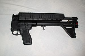Kel-Tec SUB-2000 -  SUB-2000 in its folded configuration.