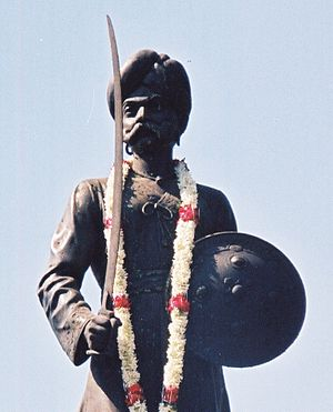 Bengaluru Pete - Kempegowda I, builder of Bangalore or Bengaluru pete, his statue oppostite the Bangalore Corporation office