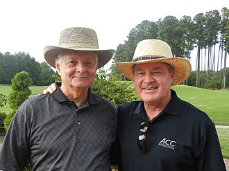 John Swofford - Swofford (right) with Ken Haines