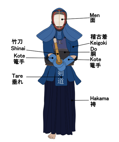 Kendo Trefferstellen