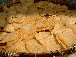 Prawn cracker - Raw prawn cracker being sun-dried before frying.
