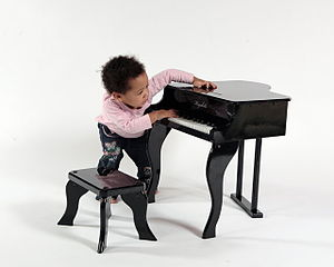 Toy piano - Child playing Keyskills 30 key toy piano (C4 to F6)