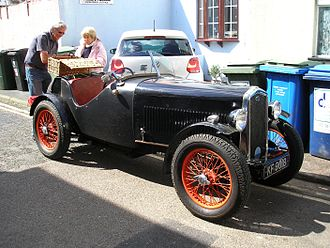 Wolseley Hornet six - Open 2-seater Rudge-Whitworth centre-lock knock-on wire wheels