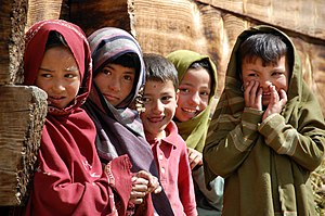 English: kids of Tarashing, Astore District, G...