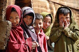 Balti people - Balti children of Tarashing