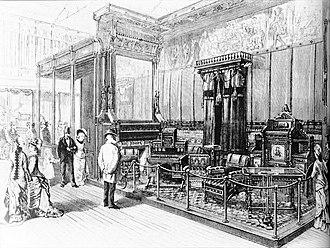Kimbel and Cabus - Image: Kimbel & Cabus display at 1876 Centennial Exposition Harper's Weekly Dec 2, 1876