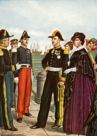 Francis II of the Two Sicilies - King Francis II of Naples and Queen Maria Sofia leave Gaeta of the Two Sicilies
