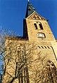 Kirche in Friedland, Bezirk Neubrandenburg, DDR Jan 1990 (5833439539).jpg
