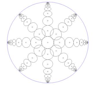 Beltrami–Klein model - Circles in the Klein disk model