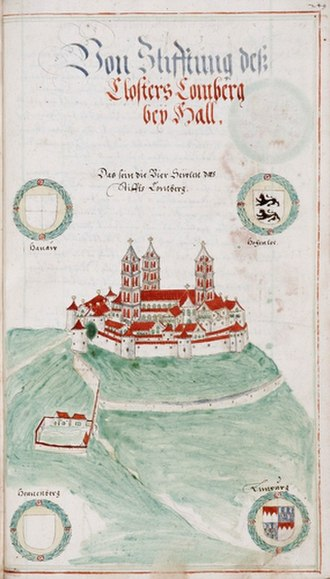 Comburg - Comburg at the end of the 16th century